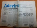 Ziarul adevarul 18 ianuarie 1990-interviu cu dumitru prunariu