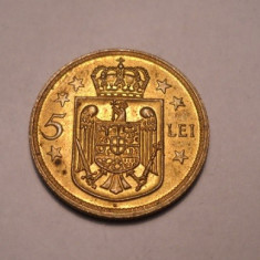 5 lei 1930 H Luciu de Batere Piesa de Colectie - Moneda Romania