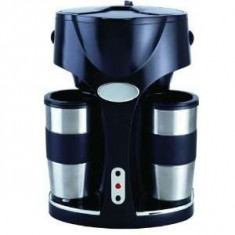 Cafetiera digitala Lentz Germany, 2 Cani termos Inox, 800 W, 0.8L
