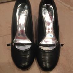 Pantofi dama marca ESPRIT marimea 38 - Pantof dama Esprit, Culoare: Negru, Piele sintetica, Cu toc