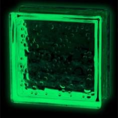 Caramida sticla fosforescenta? verde model bule