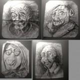 Schite in tus pe hartie - Pictor roman, Portrete, Cerneala, Realism