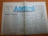 """Ziarul adevarul 25 iulie 1990-art. """" 1 decembrie ziua nationala a romaniei """""""