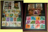 Clasor cu 200 timbre straine stampilate + 21 blocuri + 36 colite