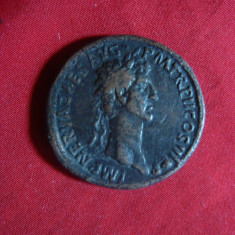 Sestert Imparat Nerva -revers Pax- Copie veche, bronz, f.rara, cal.F.Buna - Moneda Antica