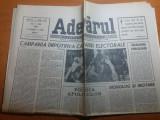 ziarul adevarul 3mai 1990 - campanie impotriva campaniei electorale
