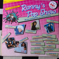 Ronny s Pop Show hits various disc vinyl lp compilatie muzica pop rock anii 80, VINIL