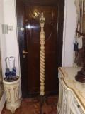 cuier pom baroc venetian lemn vopsit craquelle si bronz masiv