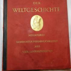 MINIATURI CU OAMENI CELEBRI DIN ISTORIA LUMII - 1936 - PTR. COLECTIONARI TIGARI