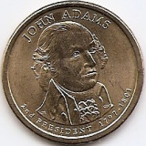 Statele Unite (SUA) 1 Dolar 2007 P - (John Adams)  26.5 mm KM-402 (2)