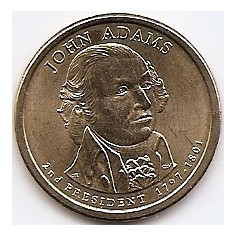 Statele Unite (SUA) 1 Dolar 2007 P - (John Adams) 26.5 mm KM-402 (2), America de Nord