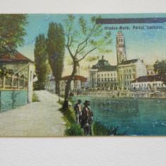 ORADEA-MARE - PARCUL EMINESC - CENZURATA IN RELIEF - 1919 - NECIRCULATA - Carte postala tematica, Fotografie