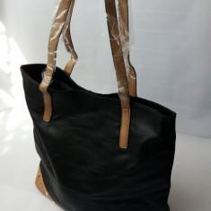 Geanta de umar dama, imitatie de piele - Geanta Dama, Culoare: Negru, Marime: Marime universala, Asemanator piele