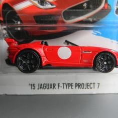Macheta auto - HOT WHEELS - JAGUAR F TYPE PROJECT 7, 1:64