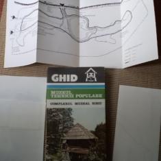 GHID MUZEUL TEHNICII POPULARE traditii complexul muzeal sibiu harti ilustrat - Carte traditii populare