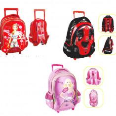 Troler scolare pentru copii 42x30x14cm - Ghiozdan, Fata