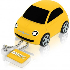 Memorie USB Emtec Fiat 500 8GB USB 2.0 Yellow - Stick USB