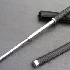 Baston telescopic pentru autoaparare POLICE model crom negru