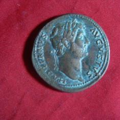 Sestert Imparat Hadrian -revers cos III- Copie veche, bronz, cal.f.buna - Moneda Antica