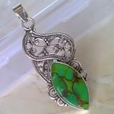 Pandantiv argint 925 cu Turcoaz Verde