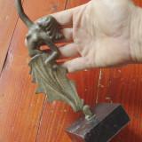 Statueta din metal Dans de femeie cu suport din marmura - bronz model deosebit ! - Metal/Fonta, Statuete