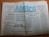 Ziarul adevarul 1 februarie 1990-abolirea pedepsei capitale + calendarul crestin