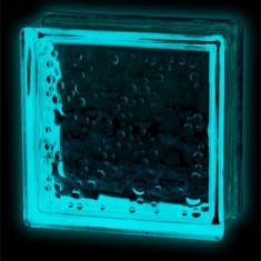 Caramida sticla fosforescenta?? albastra model bule