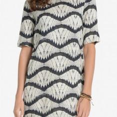 Rochie din vascoza - Vero Moda - art. 10152680 moonbeam - Rochie de zi Vero Moda, Marime: XS, Culoare: Bej