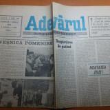 Ziarul adevarul 1 aprilie 1990 - 100 de zile de la revolutie