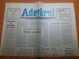 ziarul adevarul 28 iunie 1990-50 de ani de la pierdera basarabiei si bucovinei