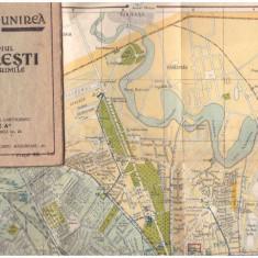 Planul Unirea - Brosura cu harta Bucuresti 1934