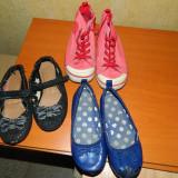 Set de 3 perechi de papucei fetite, balerini si tenisi, mar 26, LICHIDARE STOC!