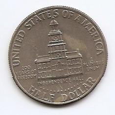 Statele Unite (SUA) Half Dolar 1976 (Bicentennial), LV1, 30.61 mm KM-205, Europa