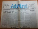 """Ziarul adevarul 9 februarie 1990-art. """"congresul al 15-lea nu va mai avea loc """""""