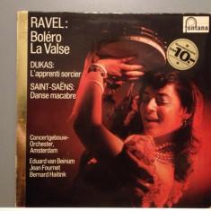 RAVEL/SAINT-SAENS/DUKAS - BOLERO/LA VALSE(1972/FONTANA/HOLLAND)- Vinil/Impecabil - Muzica Clasica universal records