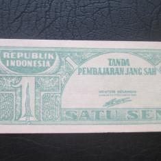 Indonezia . 1 satu sen . 1945 UNC - bancnota asia
