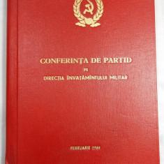 CONFERINTA DE PARTID PE DIRECTIA INVATAMANTULUI MILITAR - FEBRUARIE 1964 - MAPA - Carte Epoca de aur