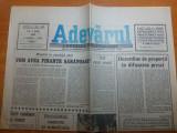 Ziarul adevarul 5 iulie 1990 - interviu cu theodor stolojan
