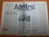 """Ziarul adevarul 25 martie 1990- articolul """" sub semnul lui eminescu """""""