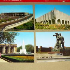 Lot 4 vederi - carti postale - Tashkent - Uzbekistan - 2+1 gratis - RBK17591 - Carte postala tematica, Necirculata, Printata