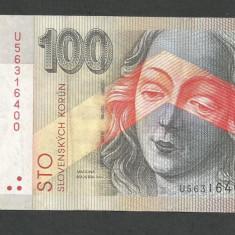 SLOVACIA 100 COROANE KORUN 2004 [1] XF, P-44 - bancnota europa