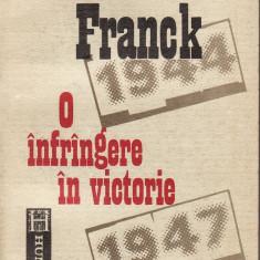 Nicoleta Franck - O infrangere in victorie - 36420 - Istorie