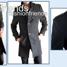 Palton negru - palton barbati  2214, Din imagine