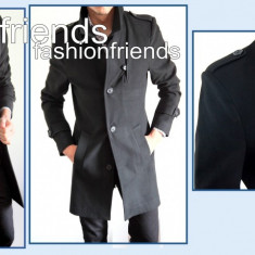 Palton negru - palton barbati 2214, Marime: M, L, XL, XXL, Culoare: Din imagine