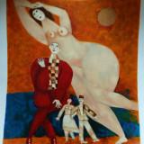Harry Guttman (1933-2015) - Compozitie suprarealista cu personaje - Litografie