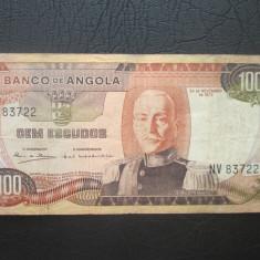 Angola . 100 escudos . 1972 - bancnota africa