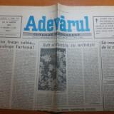 Ziarul adevarul 22 martie 1990-3 luni de la revolutie, articol despre revolutie