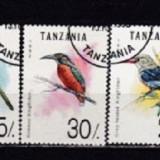 TANZANIA 1992 – PASARI EXOTICE, serie DEPARAIATA stampilata AK2 - Timbre straine