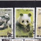 KOREA 1991 – URSI PANDA, serie DEPARAIATA stampilata AK3 - Timbre straine