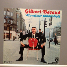 GILBERT BECAUD - MONSIEUR 100..VOLT(1969/ ELECTROLA /RFG) - Vinil Impecabil(NM-) - Muzica Pop emi records